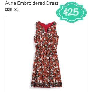 Embroidered Market & Spruce dress
